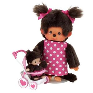 Monchhichi : Mother Care met buggy