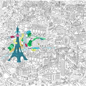 Omy002 Xxl Kleurplaat Parijs