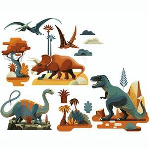 Raamsticker dinosaurussen