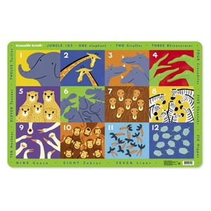 Placemat : Jungle 123
