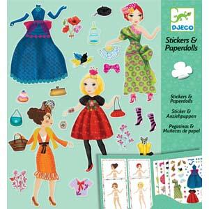 Stickers en paperdolls : Helemaal in de mode