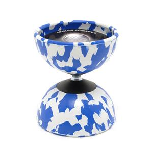 Diabolo harlequin medium : wit/blauw