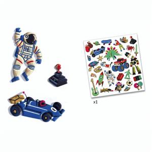 Puffy stickers retro toys