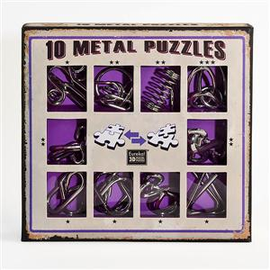 EU473359 Metal Puzzle Set paars