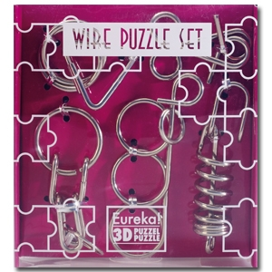 Wire Puzzle Set paars