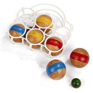 Houten petanque ballen