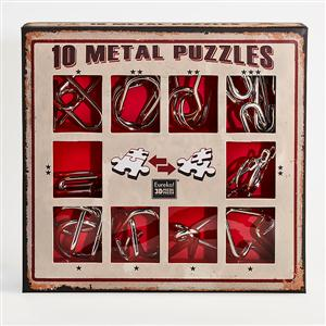 Metal Puzzle Set rood