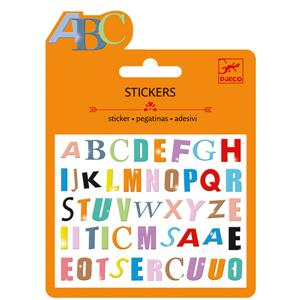 Mini - stickers : Gekleurde letters