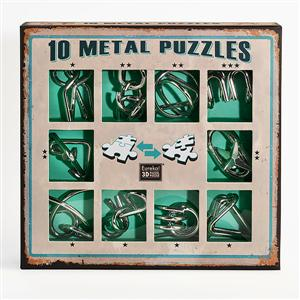 Metal Puzzle Set groen
