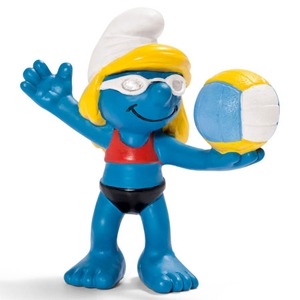 Beach volleyball smurfin