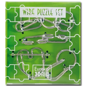 Wire Puzzle Set groen